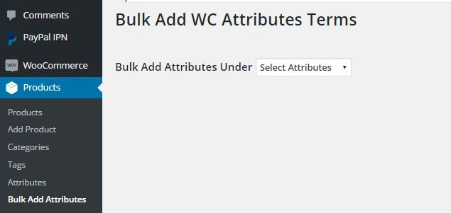wcba adding bulk attributes